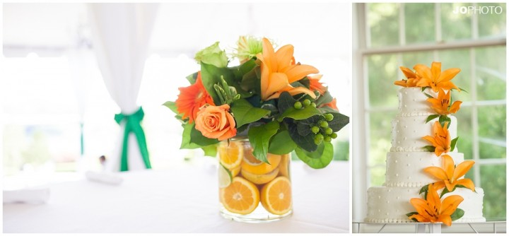 orange-green-wedding