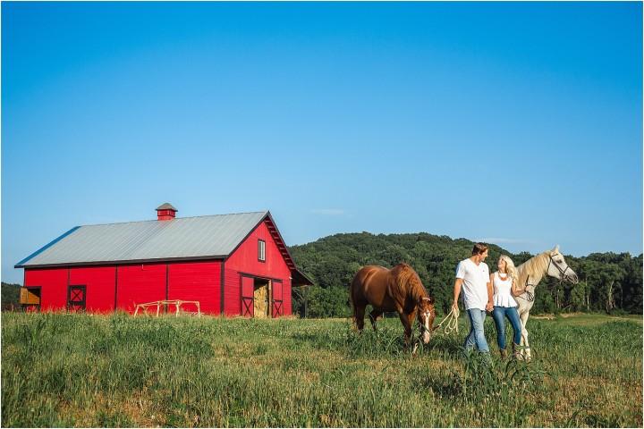 horse engagement photo