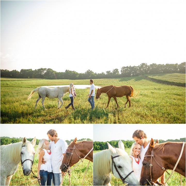 horse engagement photos