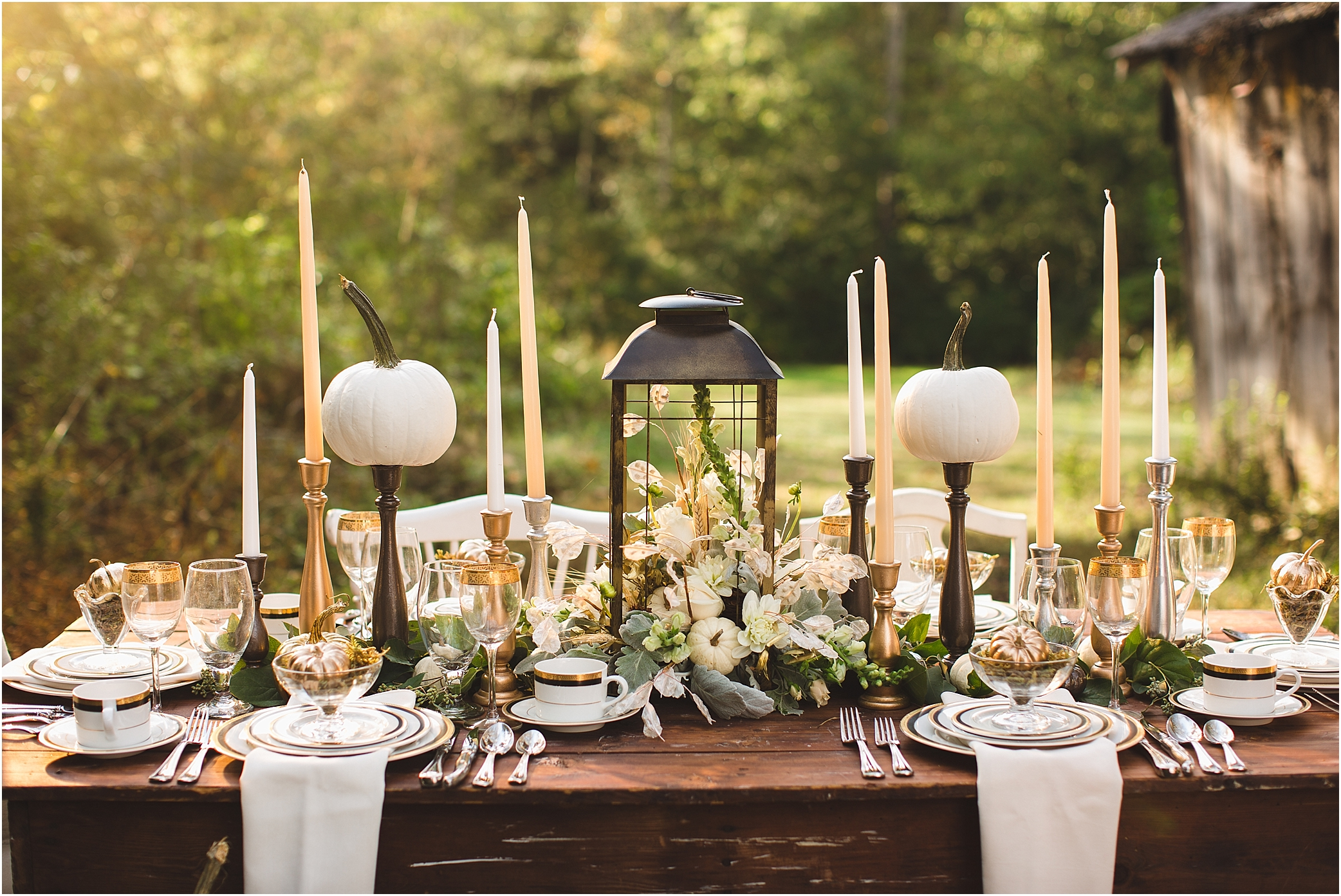 Thanksgiving table setting ideas and decorations for Elegant table setting for thanksgiving