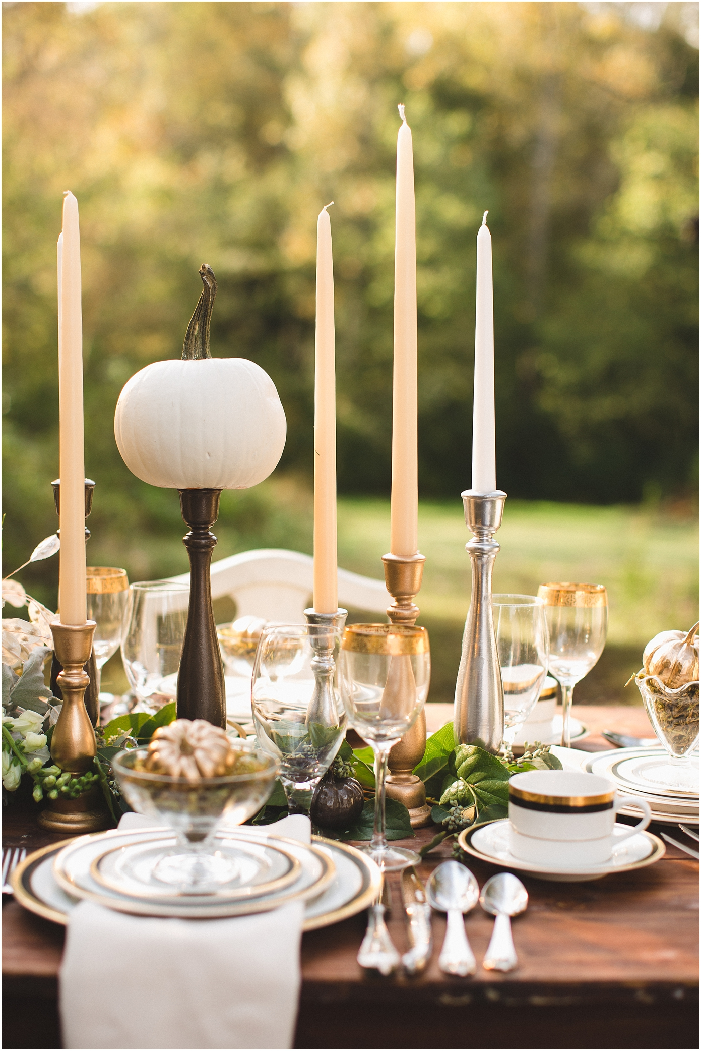 Thanksgiving table setting ideas and decorations