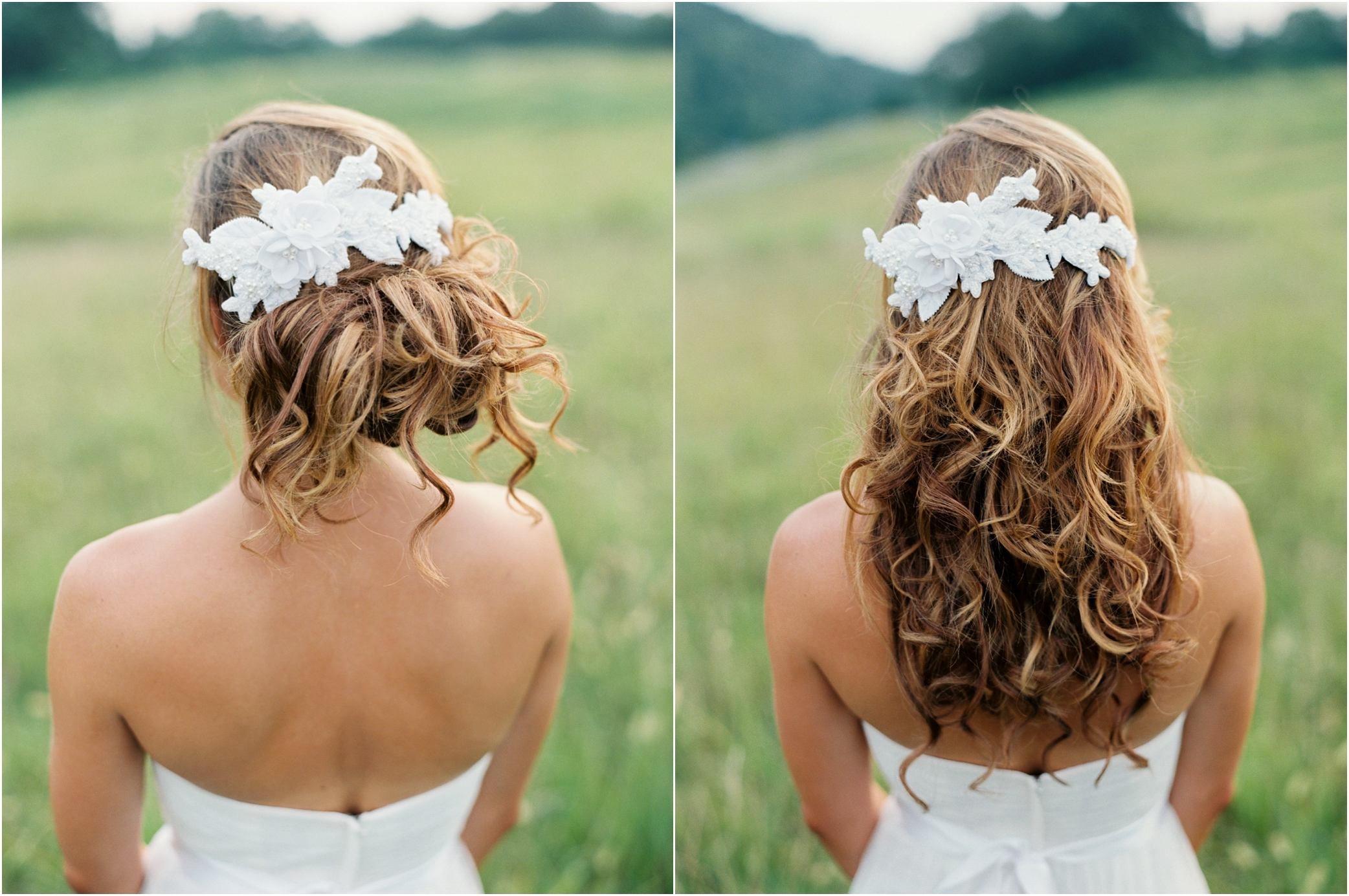 Yellow hair accessories for wedding -  Wedding Hair Clips