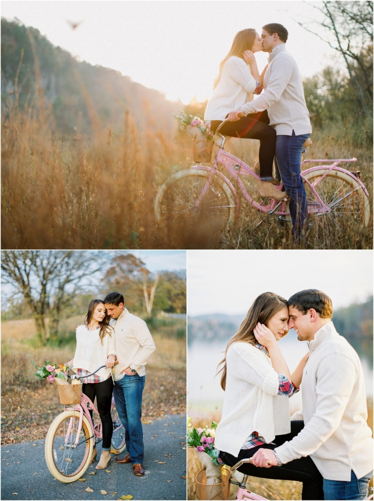 bicycle engagement photos knoxville