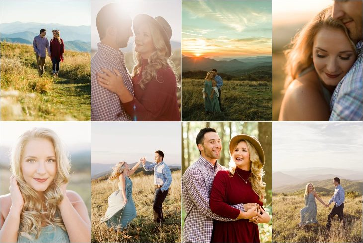 max patch engagement photos and smoky mountain wedding pictures