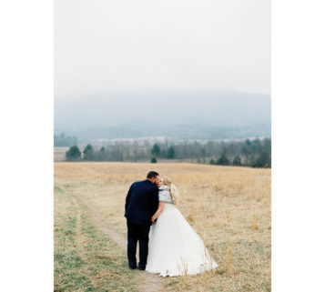 cades cove winter wedding Tennessee