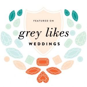 Featured on Grey Likes Weddings
