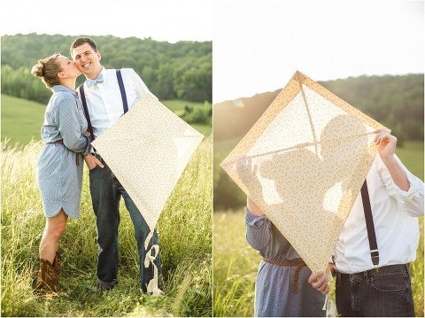 kite engagement pictures