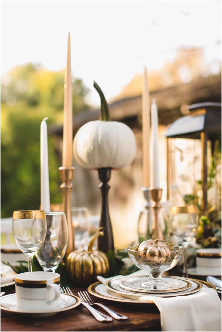thanksgiving table setting decorations