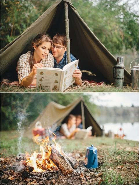 engagement photos camping