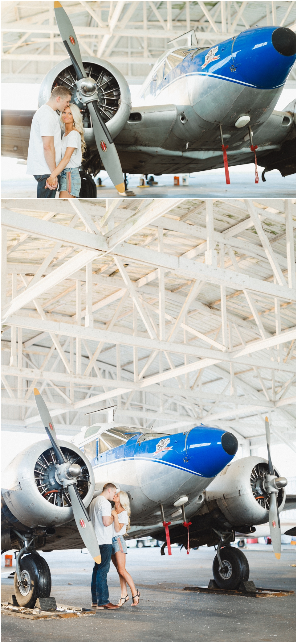 Airplane Engagement Photos in Knoxville TN