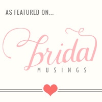 featured on bridal musings badge