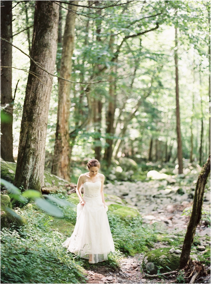 bride in smoky mountains