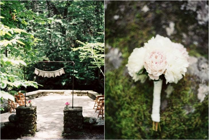 spence cabin wedding ceremony