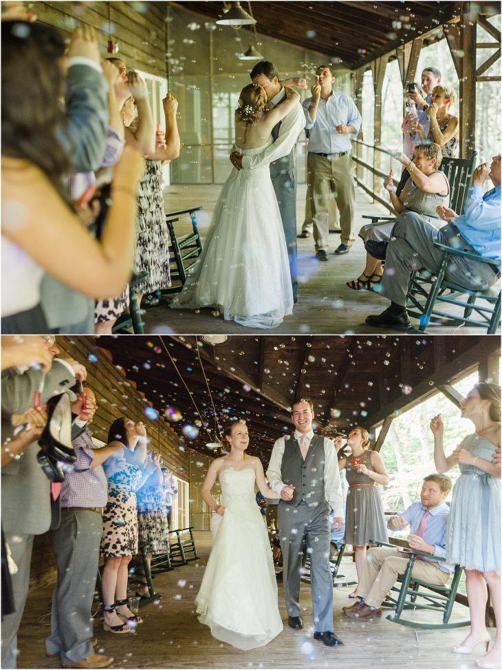 wedding reception bubbles
