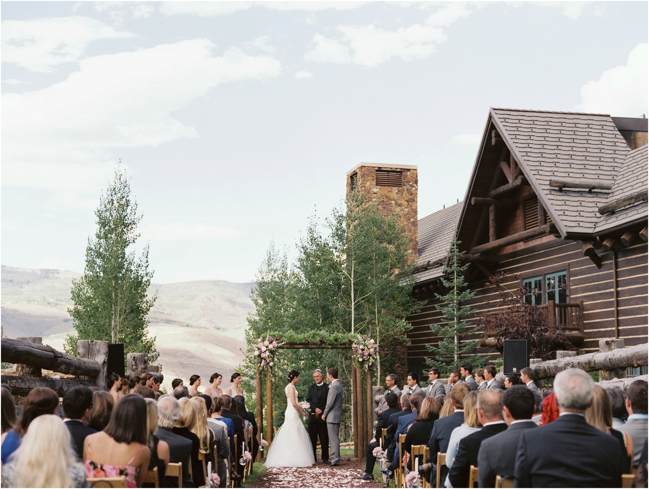 Ritz Carlton Bachelor Gulch Wedding Photo