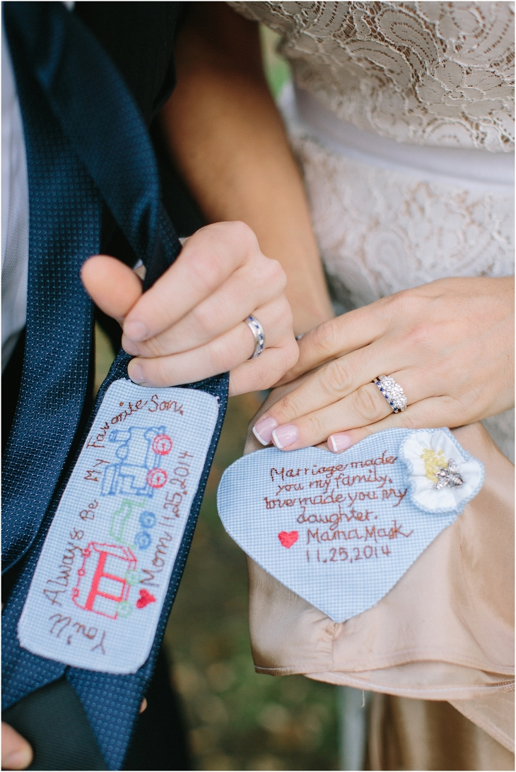 personalized wedding tie for the groom