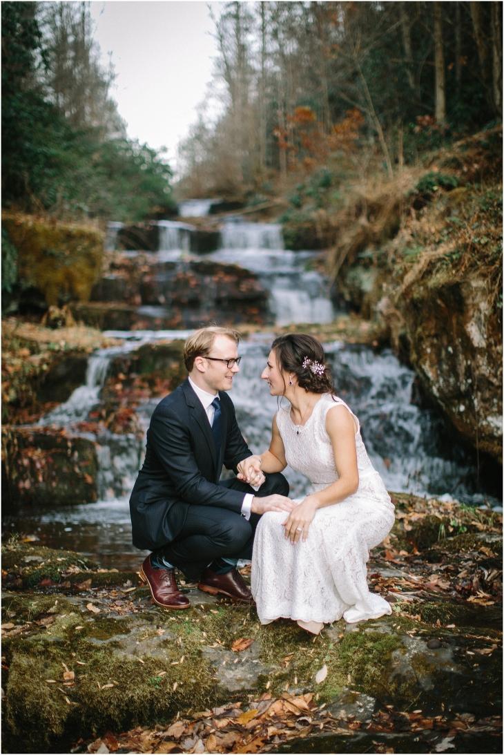 smoky mountain waterfall wedding