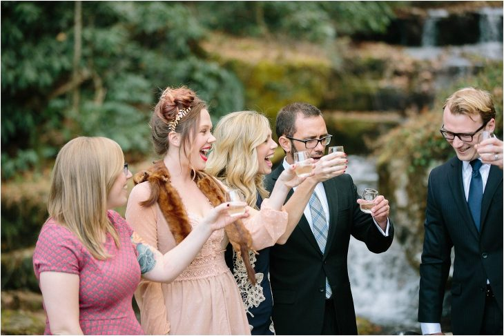Waterfall wedding in Tennessee