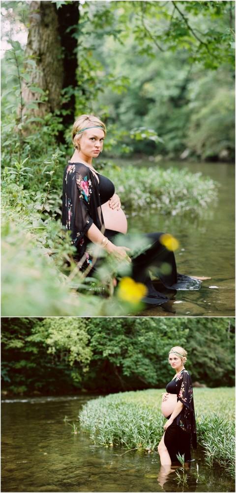 river maternity photos