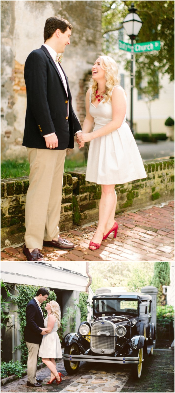 downtown charleston engagement pictures