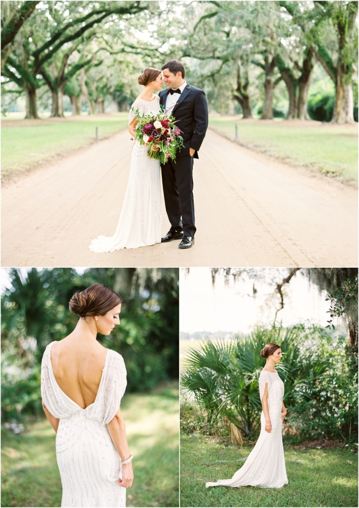 boone hall plantation wedding picture