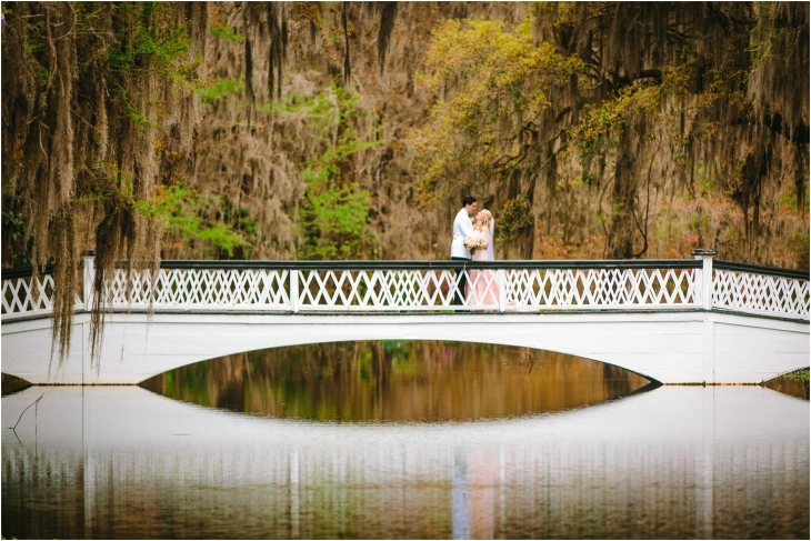 Long White Bridge Wedding