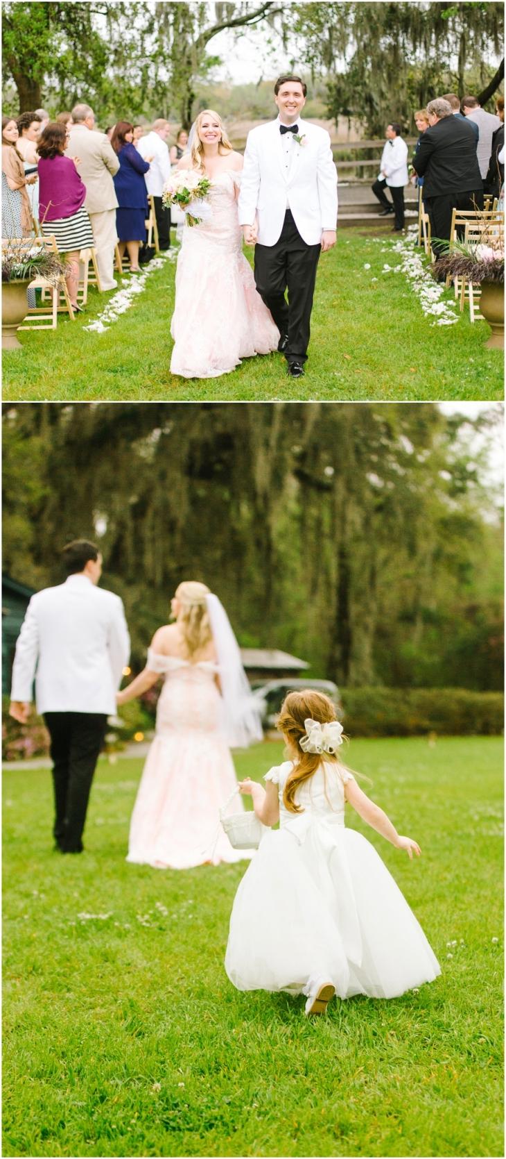 Magnolia Plantation Wedding ceremony pics