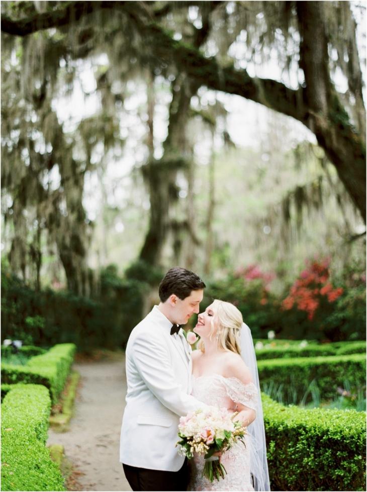 Magnolia Plantation wedding pic in the gardens
