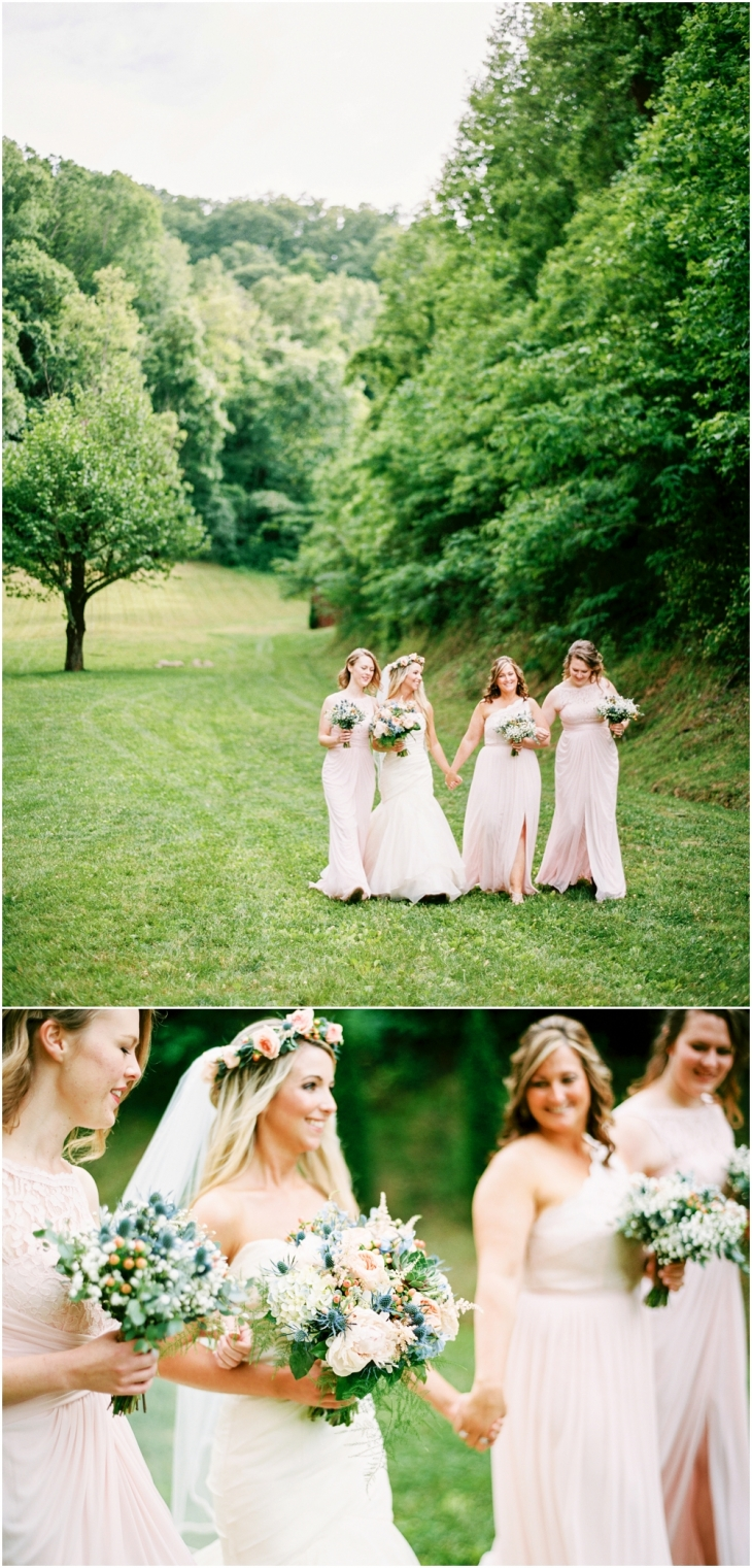 Barn At Chestnut Springs bridesmaids
