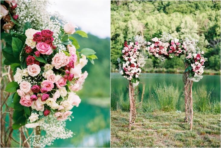 LB Floral Wedding Flower Arbor