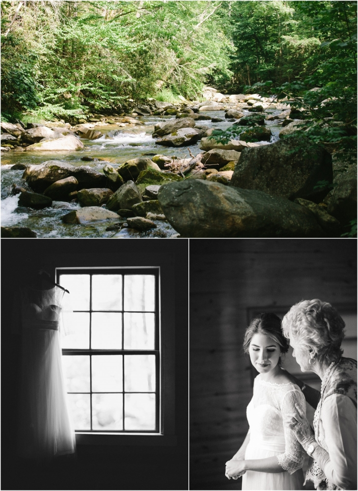 bride at spence cabin