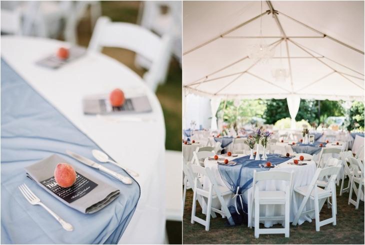 peach wedding decor