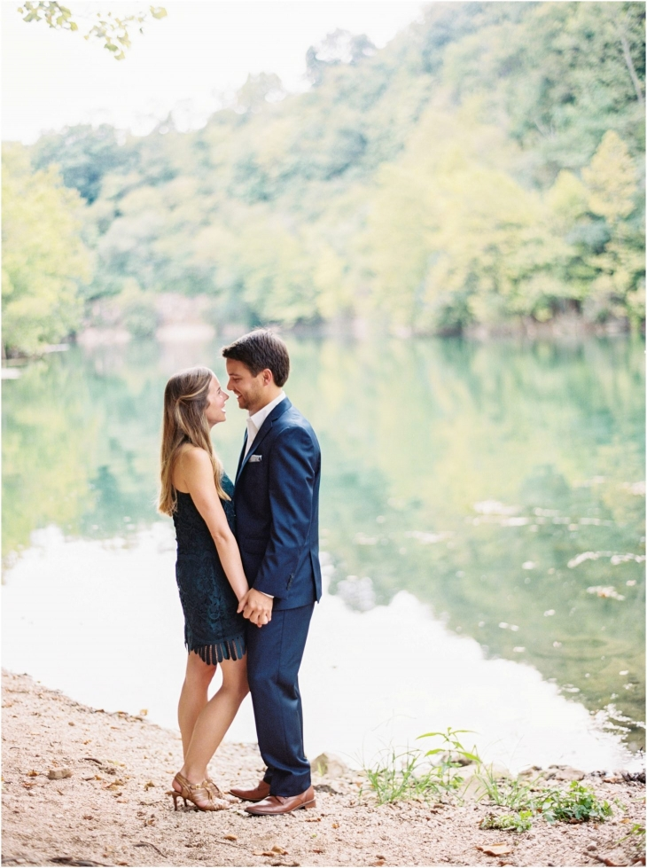 meads quarry engagement photo