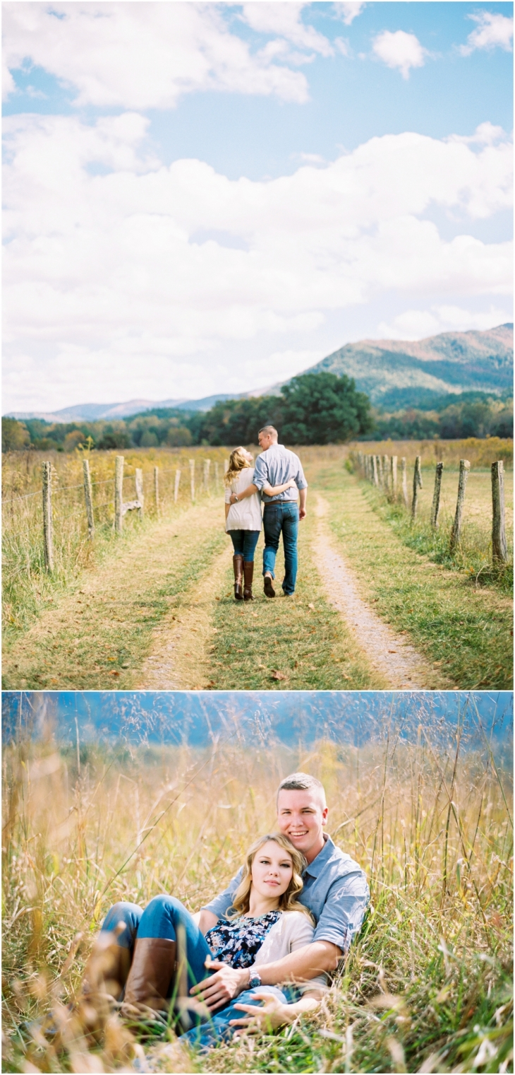 cades cove engagement photographer