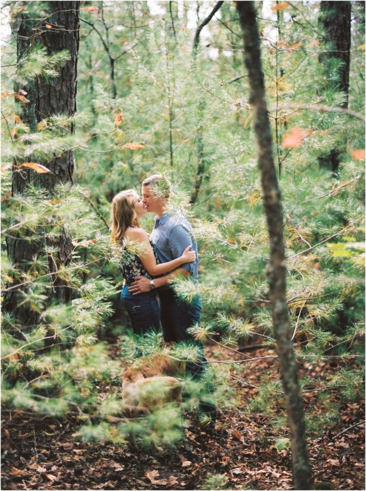 cades cove fall engagement photo