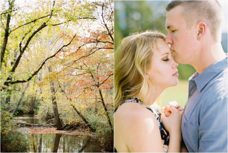 cades cove fall engagement photos