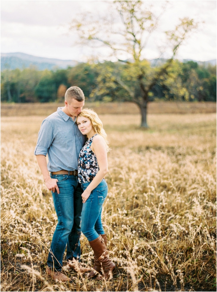 cades cove fall engagement picture