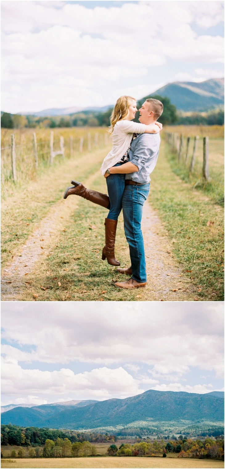 engagement photos cades cove