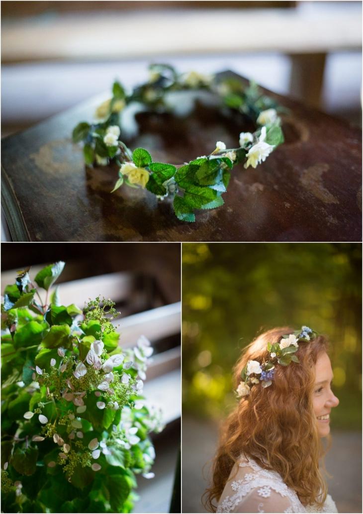 bridal flower halo