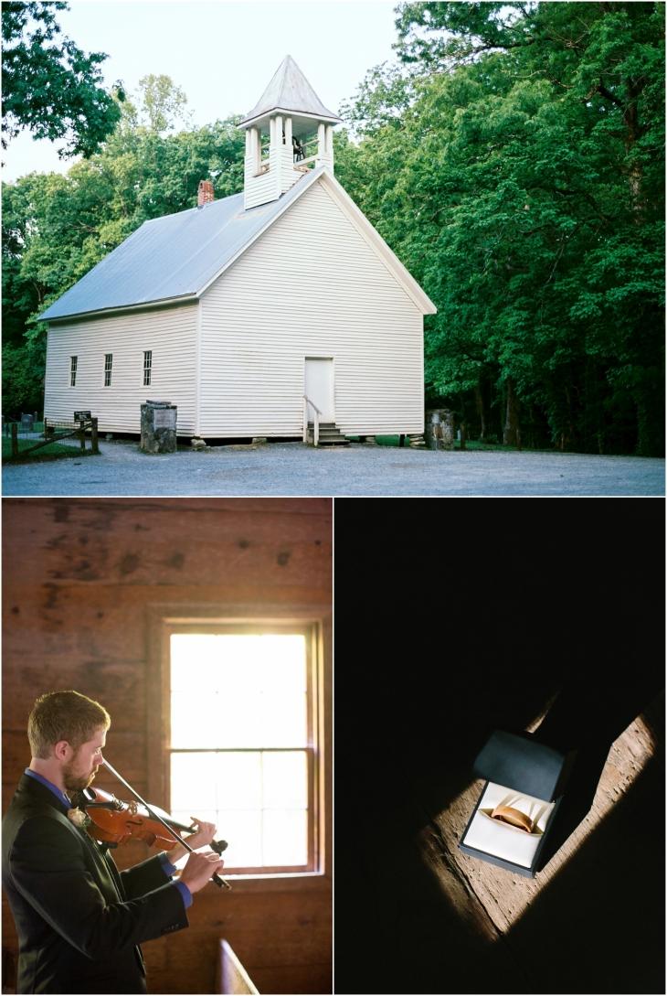 cades cove church wedding photographer