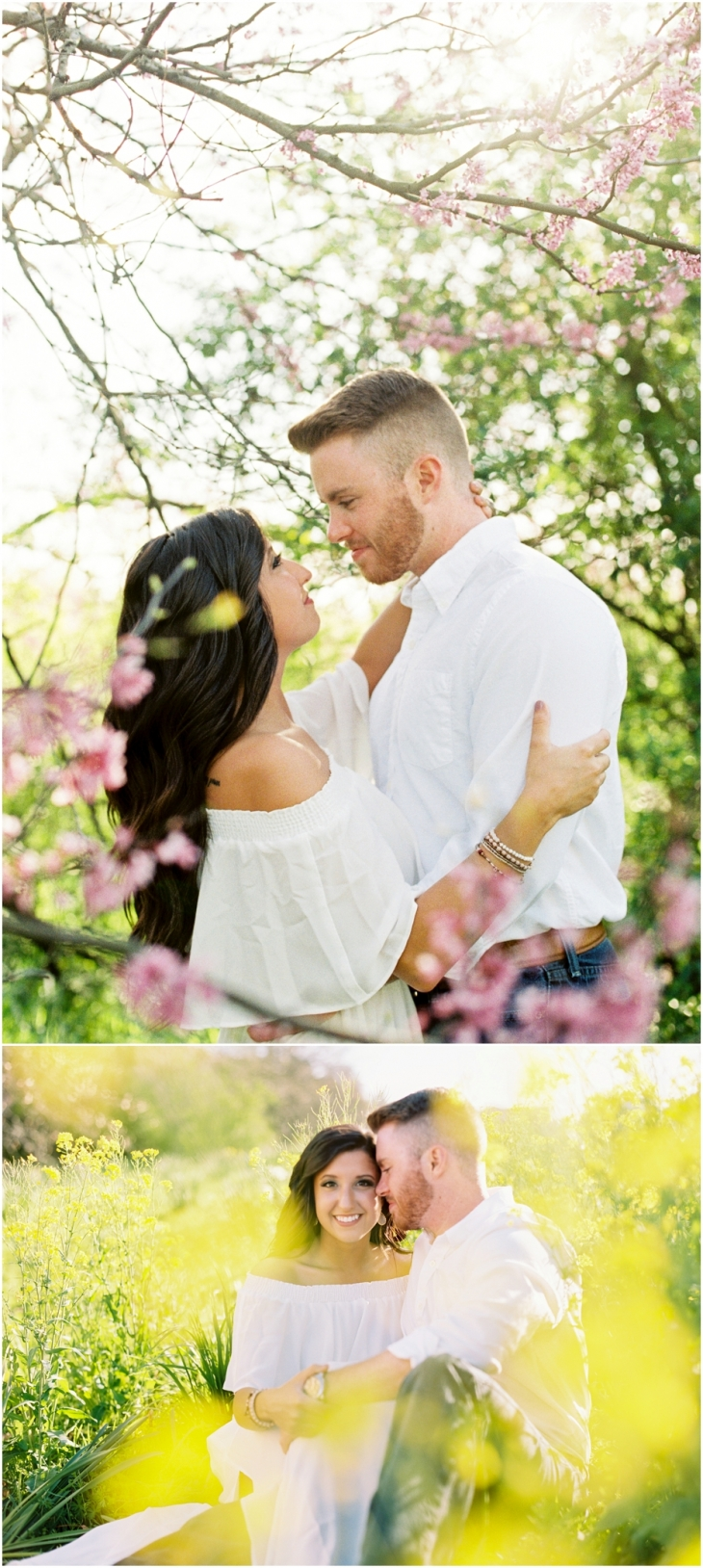 Spring engagement photos in knoxville