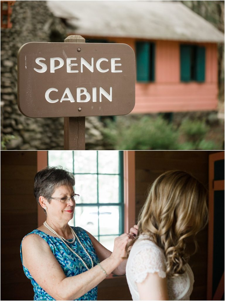 wedding at spence cabin
