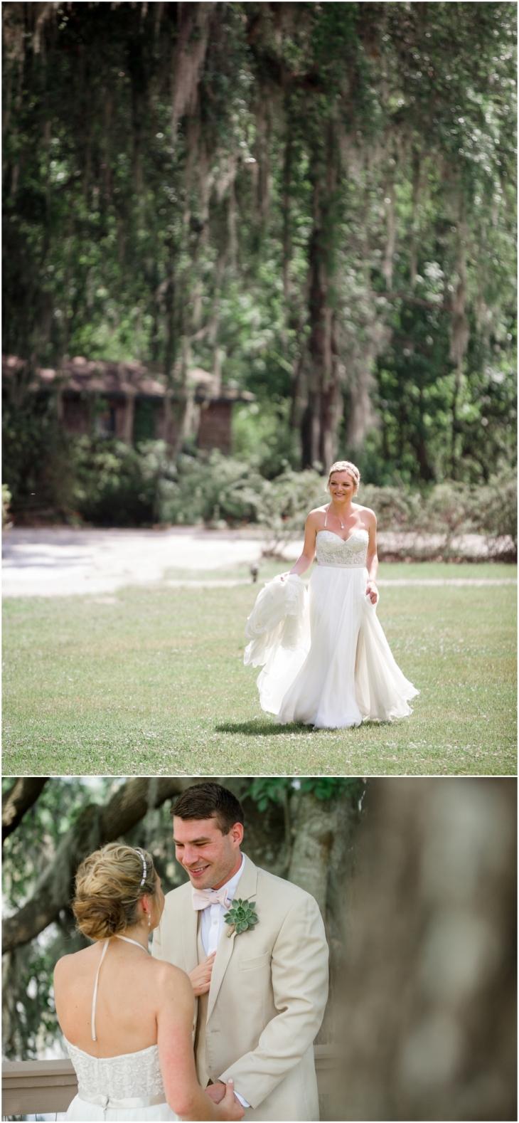 magnolia plantation wedding photo
