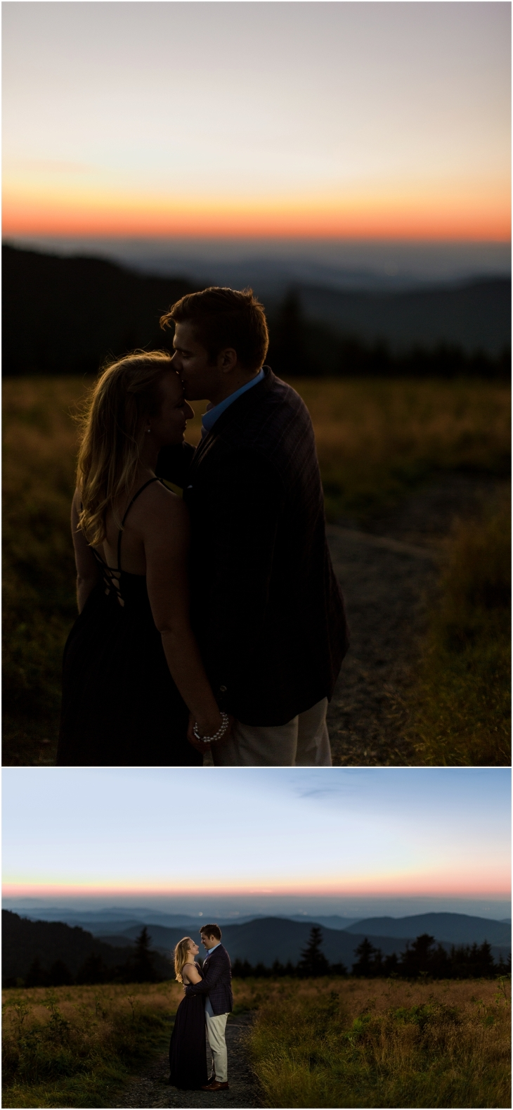 Roan Mountain Engagement Photo