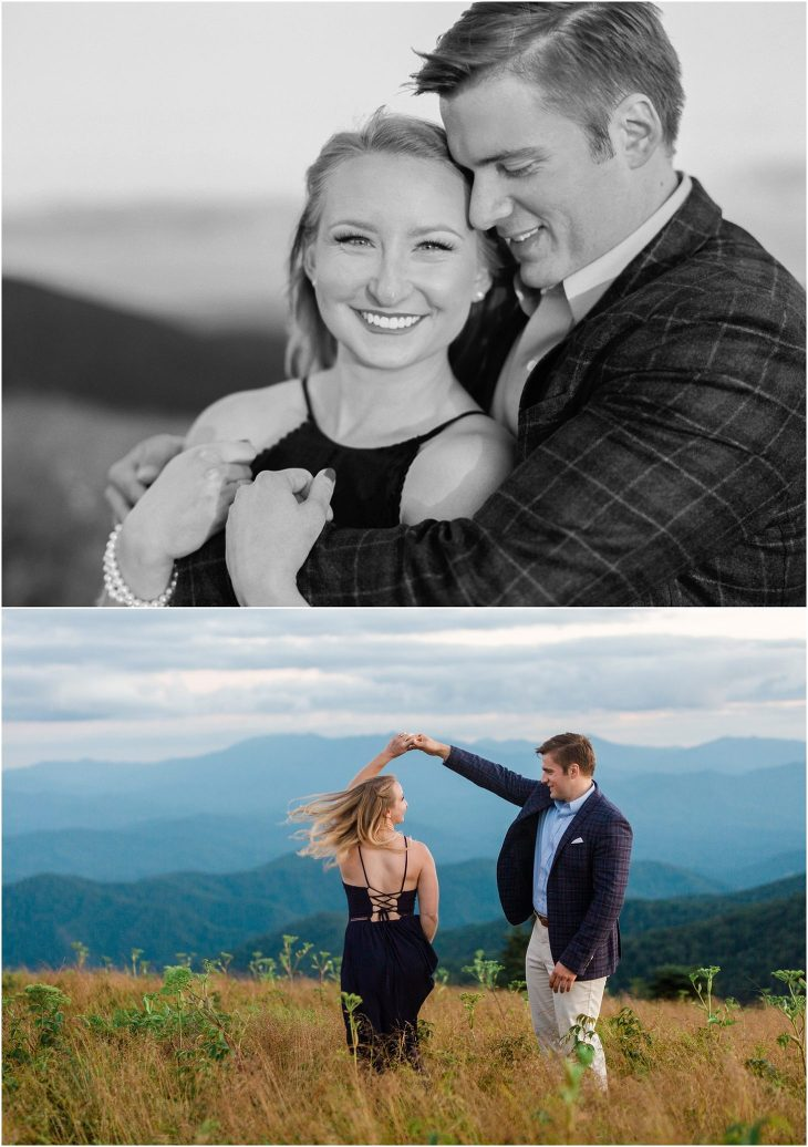 Roan Mountain Engagement Picture