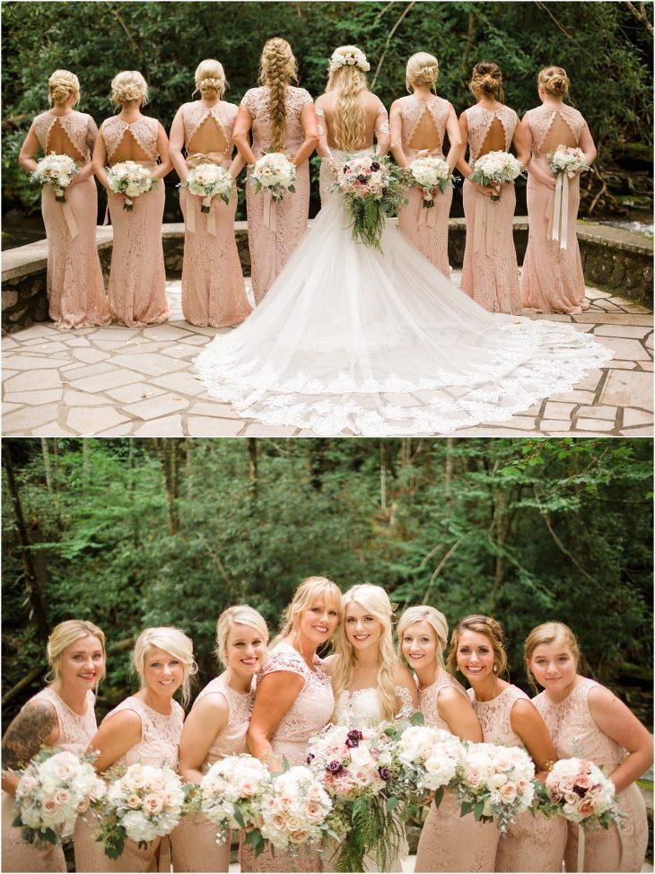 spence cabin wedding photo