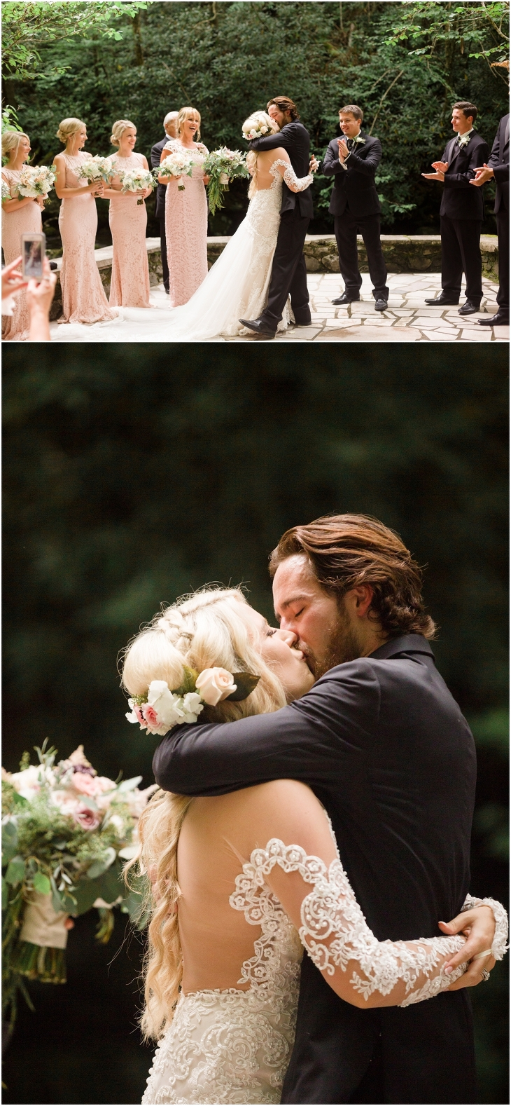 spence cabin wedding pics