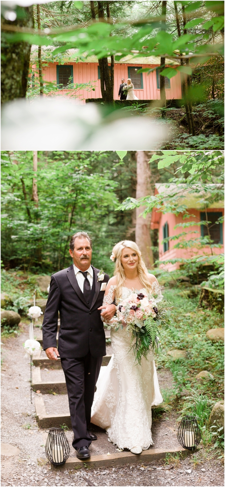 spence cabin wedding picture