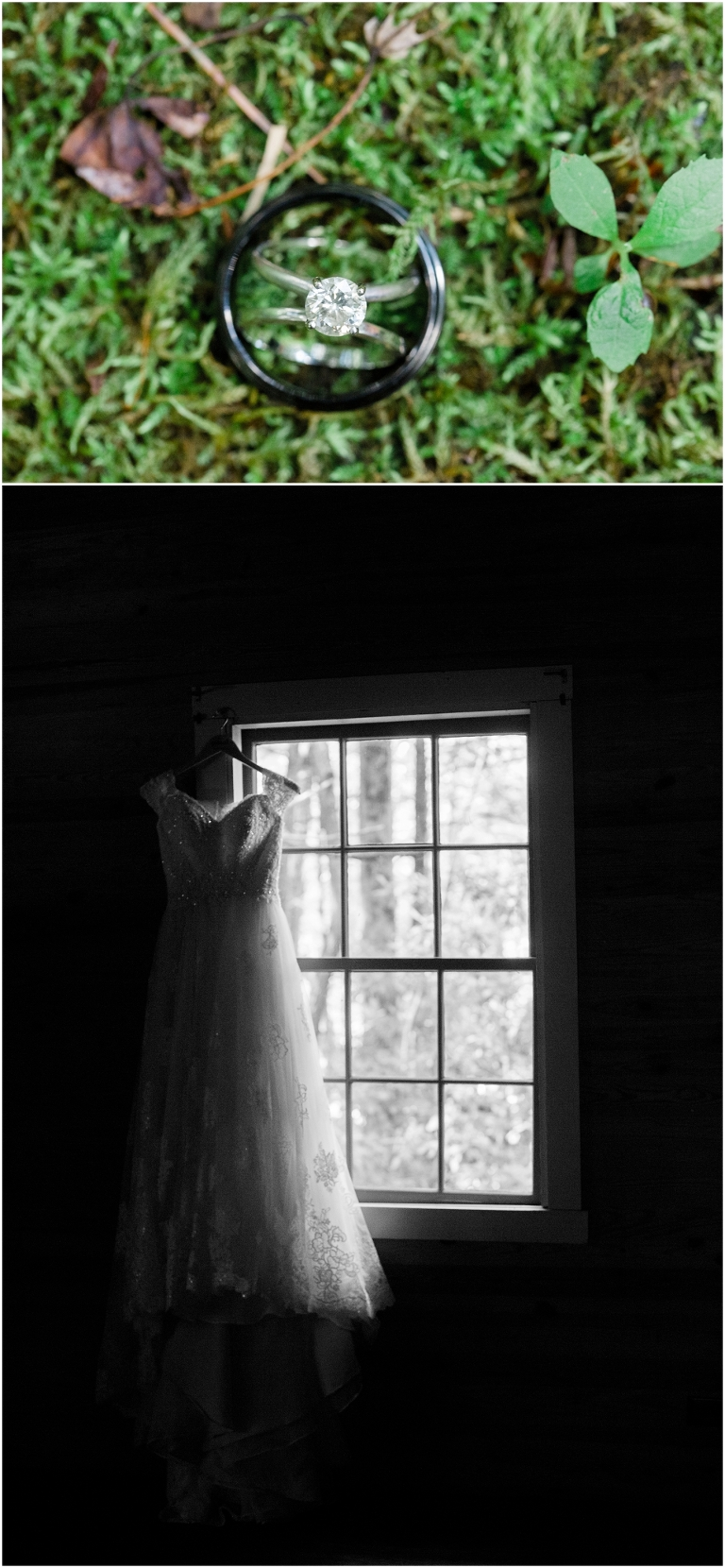 spence cabin wedding photo