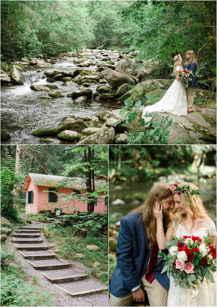 spence cabin wedding pictures